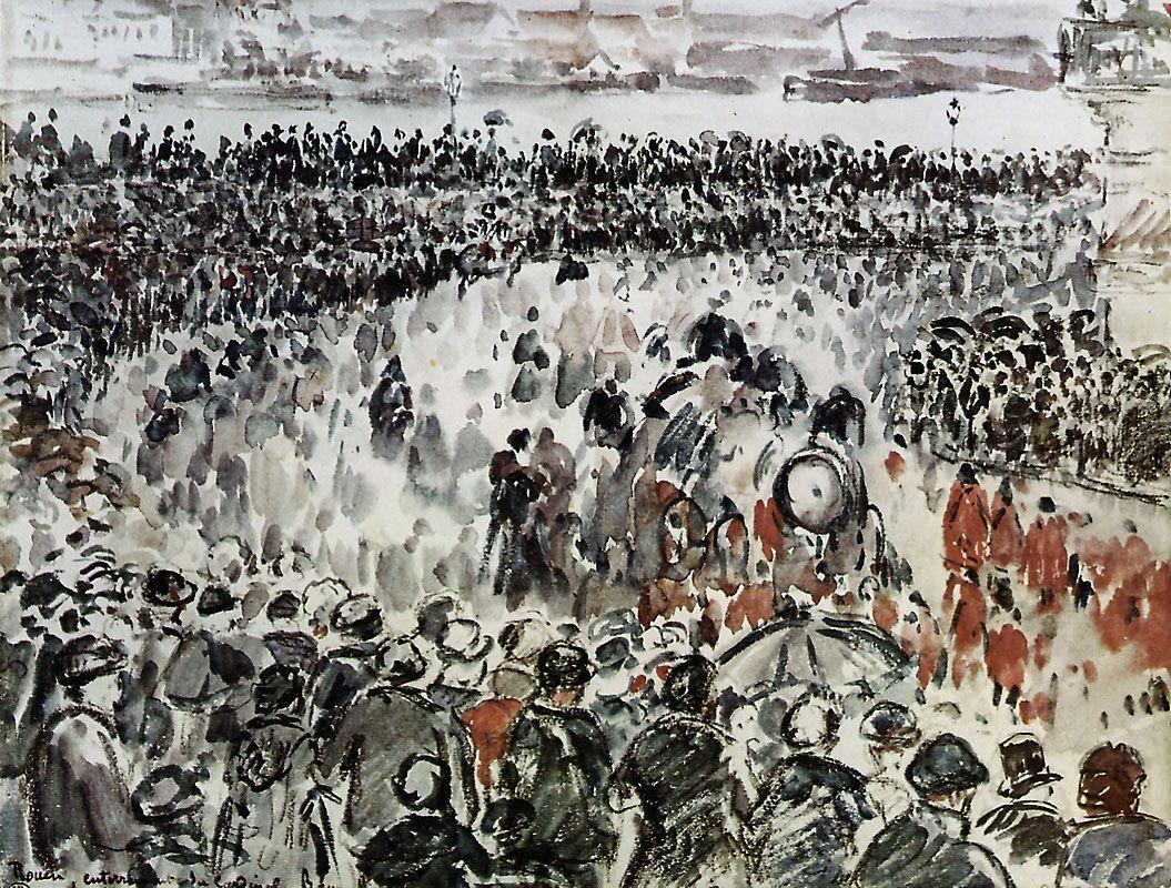Rouen burial of Cardinal Bonnechose - Camille Pissarro