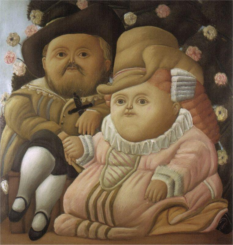 Rubens and His Wife - Fernando Botero