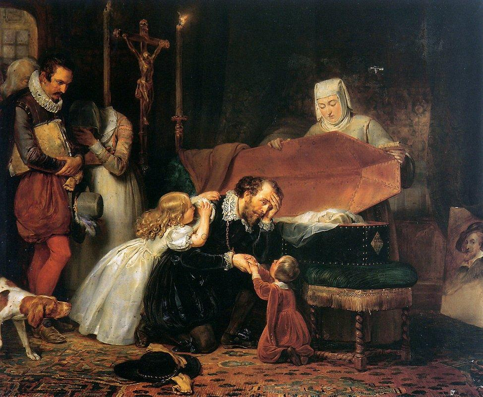 Rubens mourning his wife - Anthony van Dyck