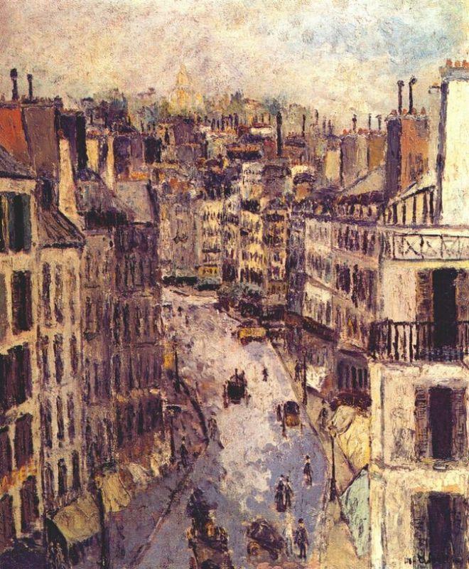Rue Lepic - Maurice Utrillo