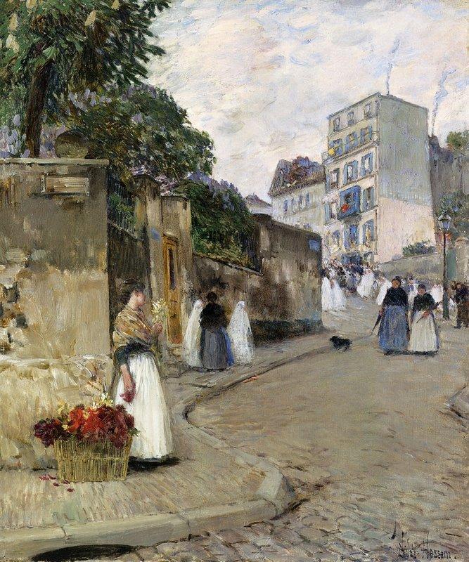 Rue Montmartre, Paris - Childe Hassam