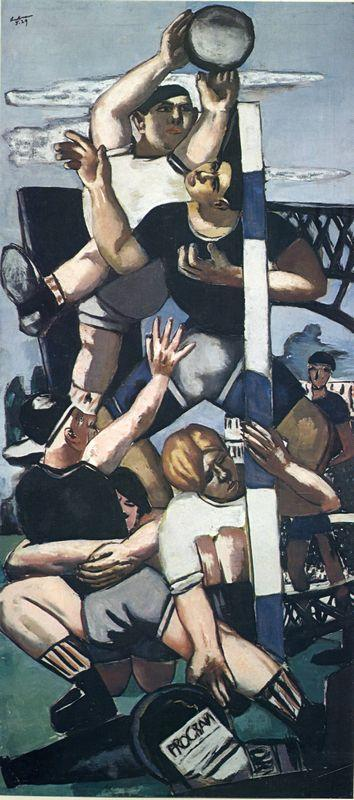 Rugby players - Max Beckmann