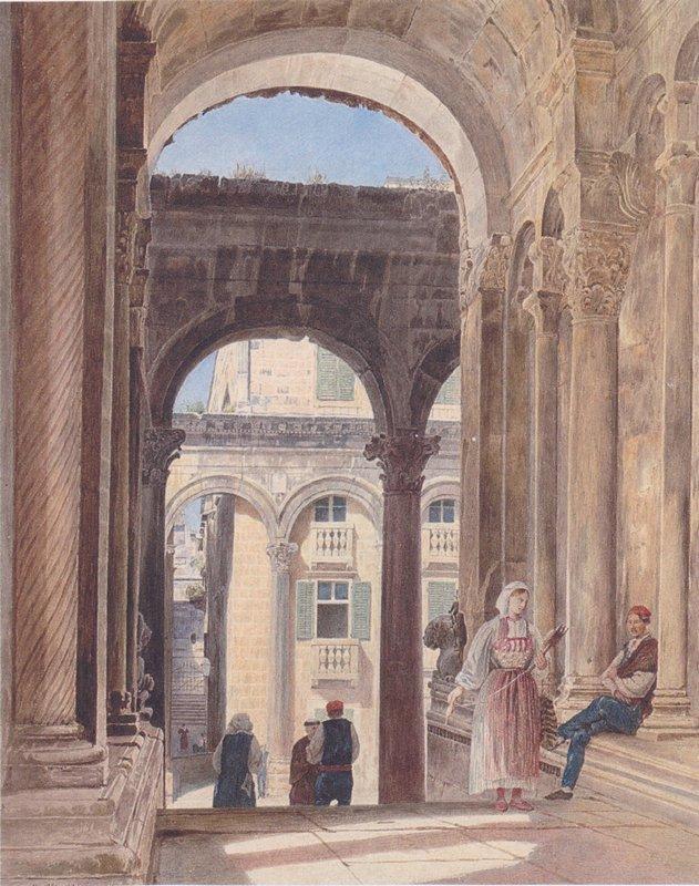 Ruins of Diocletian at Spalato - Rudolf von Alt