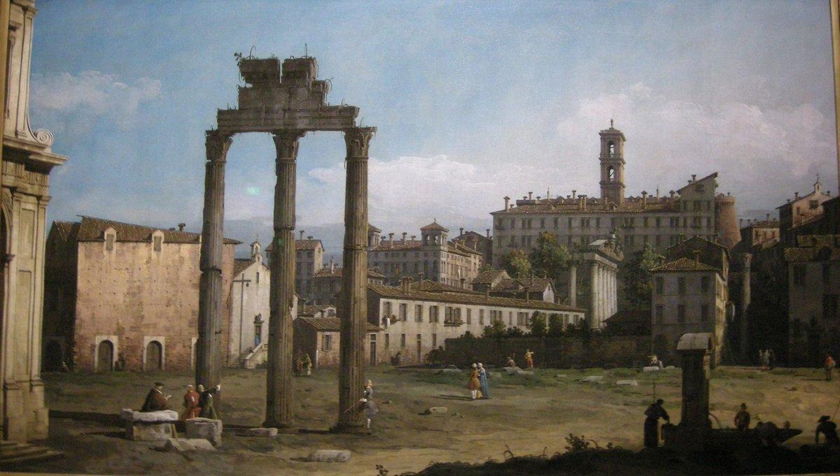 Ruins of the Forum, Rome - Bernardo Bellotto