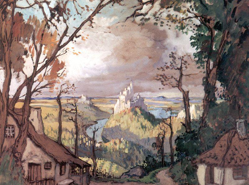 Rural landscape. Set Design for Adan's ballet