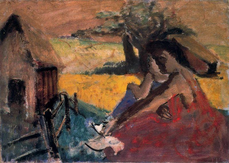 Rural Scene - Adolphe Joseph Thomas Monticelli