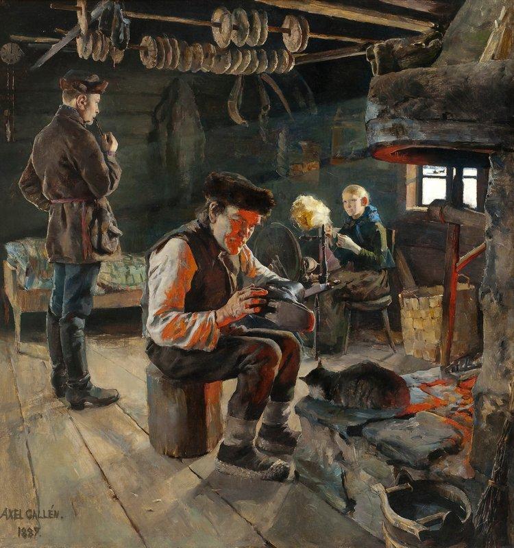 Rustic life  - Akseli Gallen-Kallela