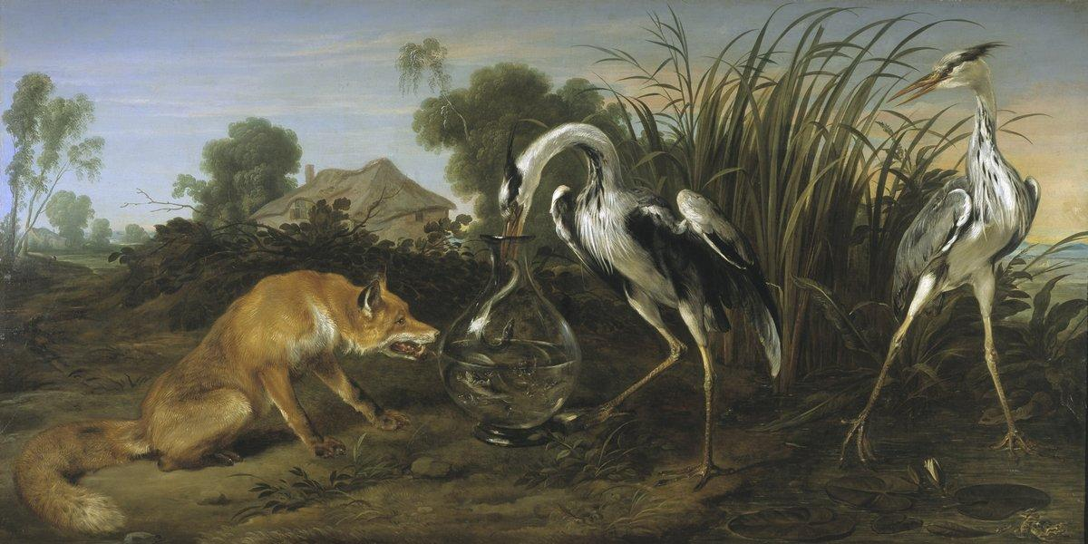 Sable of the Fox and the Heron - Frans Snyders