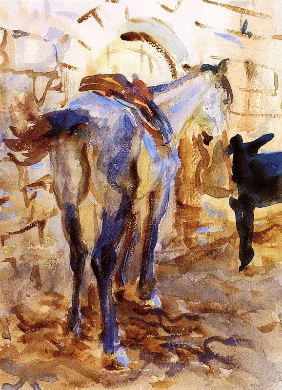 Saddle Horse, Palestine - John Singer Sargent