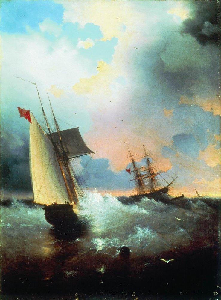 Sailboat - Ivan Aivazovsky