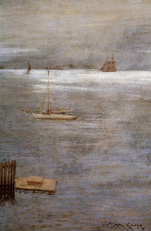 Sailboat at Anchor - William Merritt Chase
