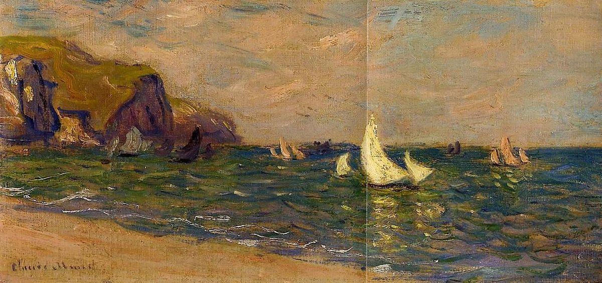 Sailboats at Sea, Pourville - Claude Monet