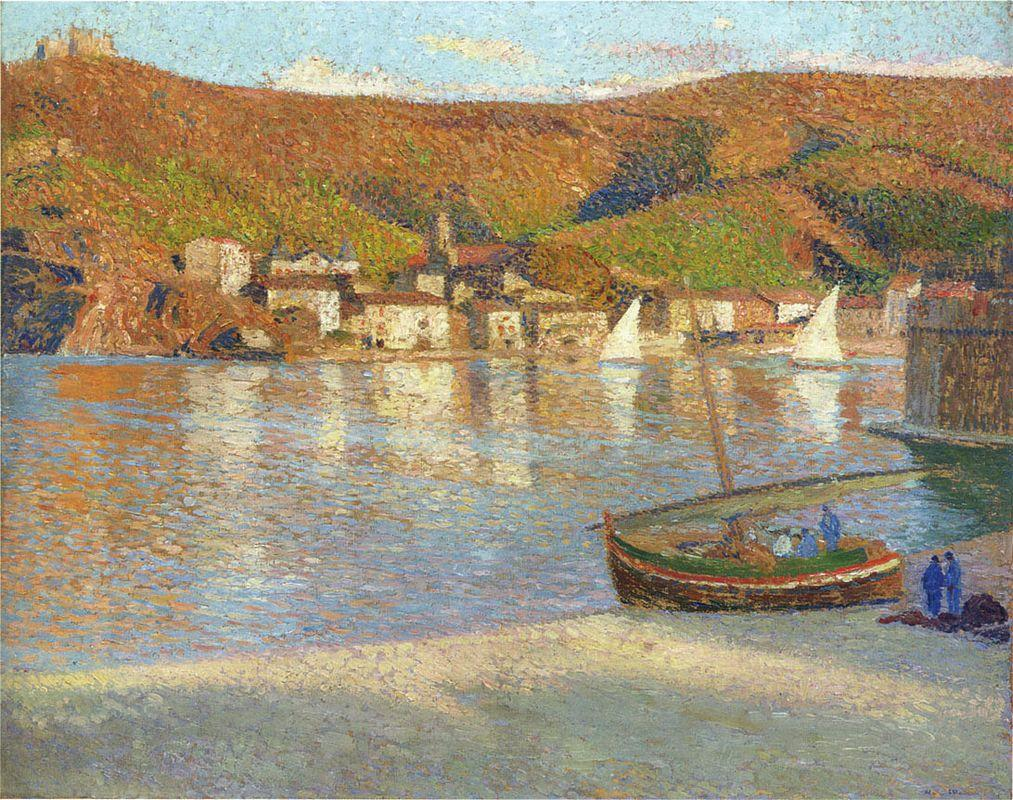 Sailboats in the Port - Henri Martin
