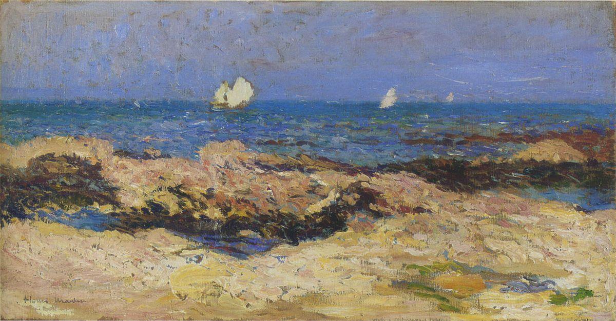 Sailboats near the coast - Henri Martin