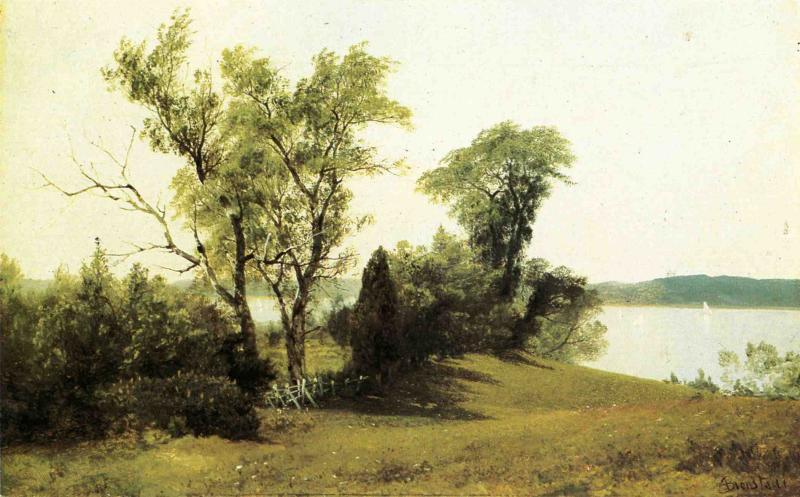 Sailing on the Hudson - Albert Bierstadt