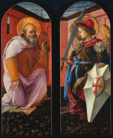 Saint Anthony and Archangel Michael  - Filippo Lippi
