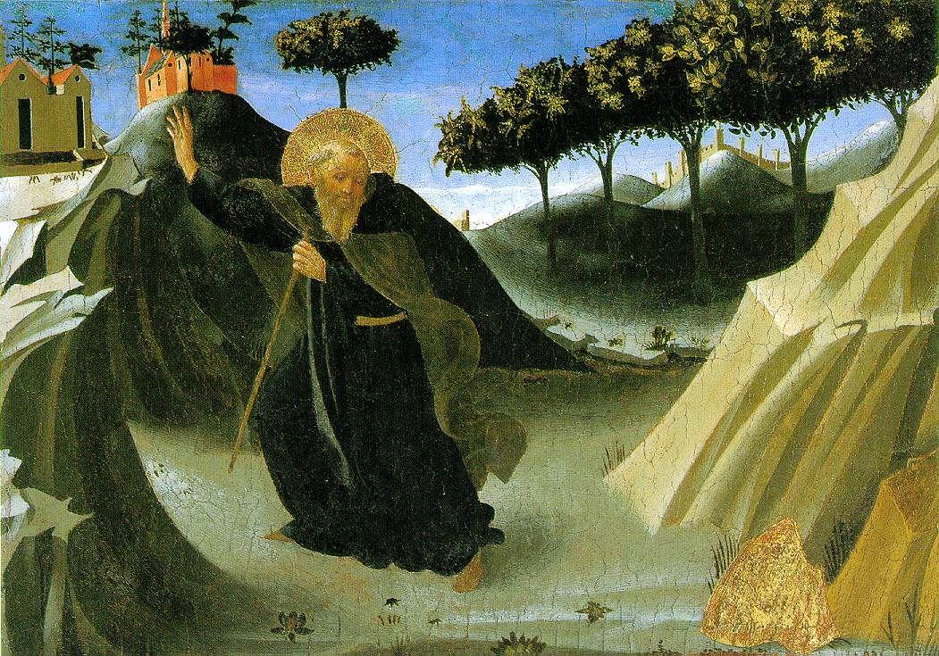 Saint Anthony the Abbot Tempted by a Lump of Gold - Fra Angelico