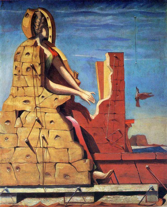 Saint Cecilia (Invisible piano) - Max Ernst