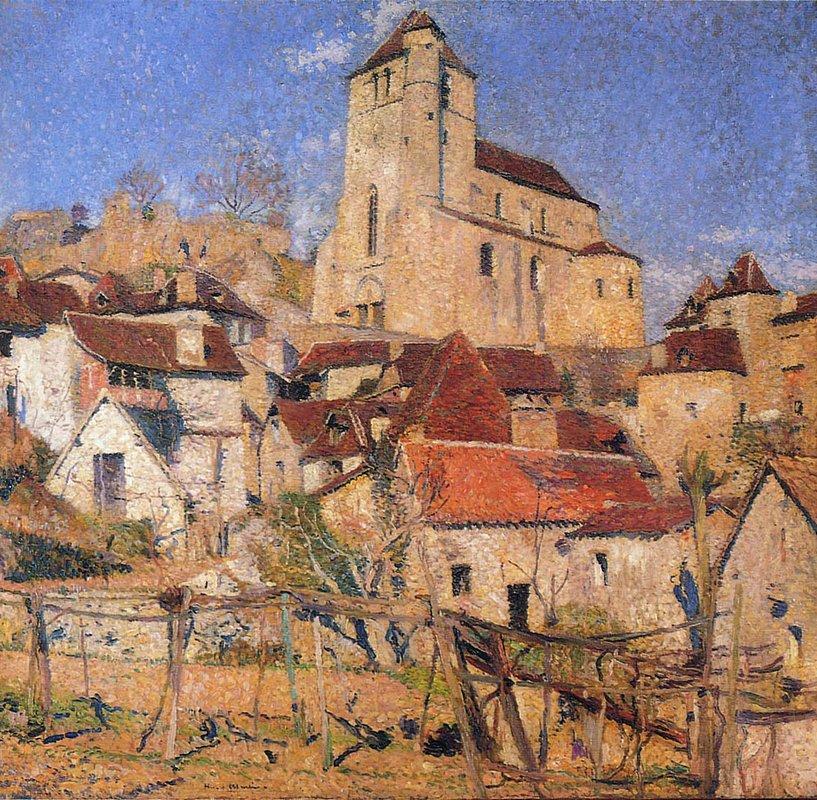 Saint Cirq Lapopie over the Roofs - Henri Martin