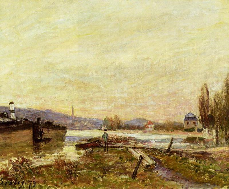 Saint Cloud, Banks of the Seine - Alfred Sisley