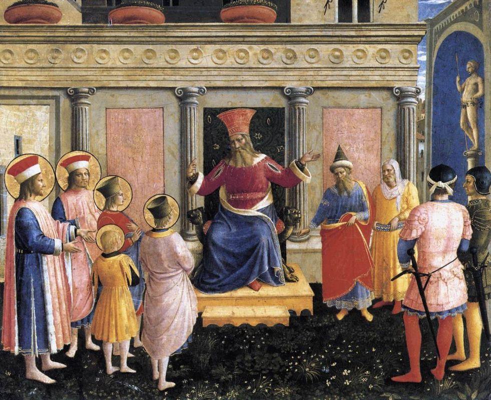 Saint Cosmas and Saint Damian before Lisius - Fra Angelico