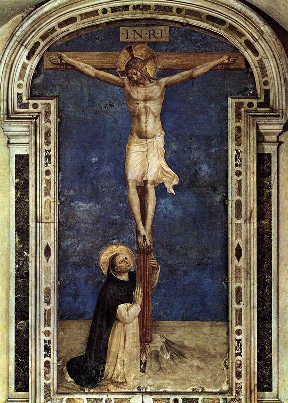 Saint Dominic Adoring the Crucifixion - Fra Angelico