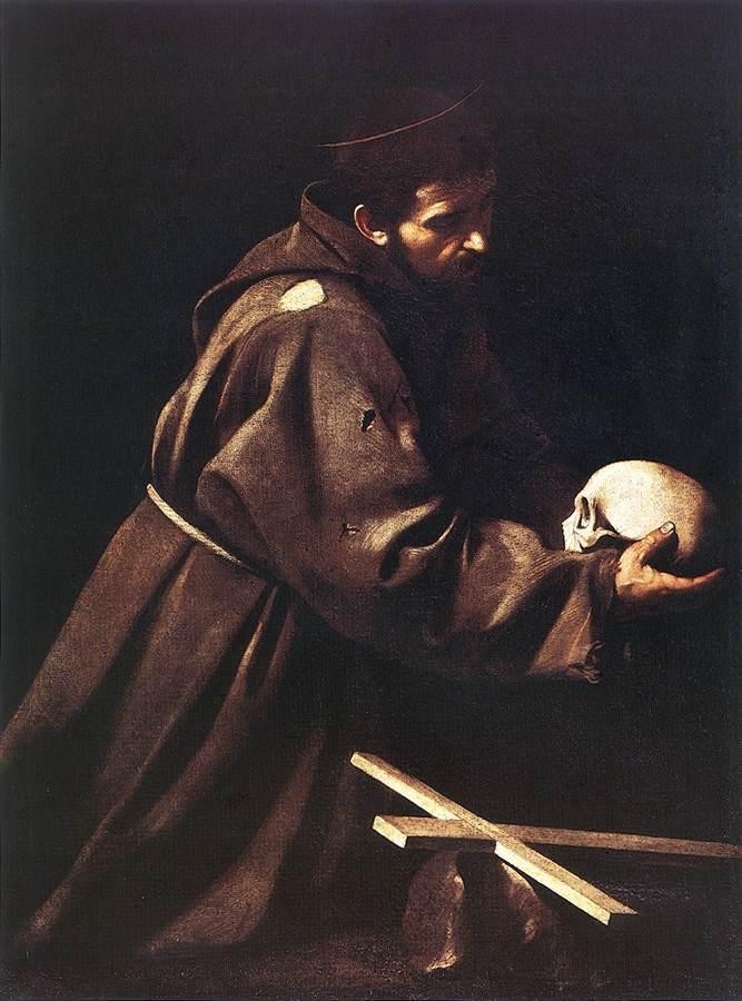 Saint Francis in Prayer - Caravaggio