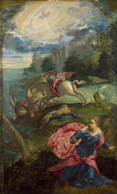 Saint George and the Dragon - Odilon Redon