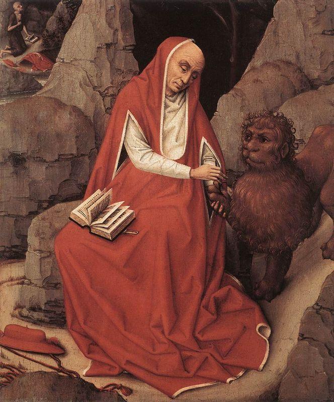 Saint Jerome and the Lion - Rogier van der Weyden