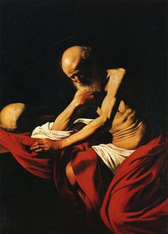 Saint Jerome in Meditation - Caravaggio
