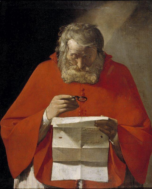 Saint Jerome reading a letter - Georges de la Tour