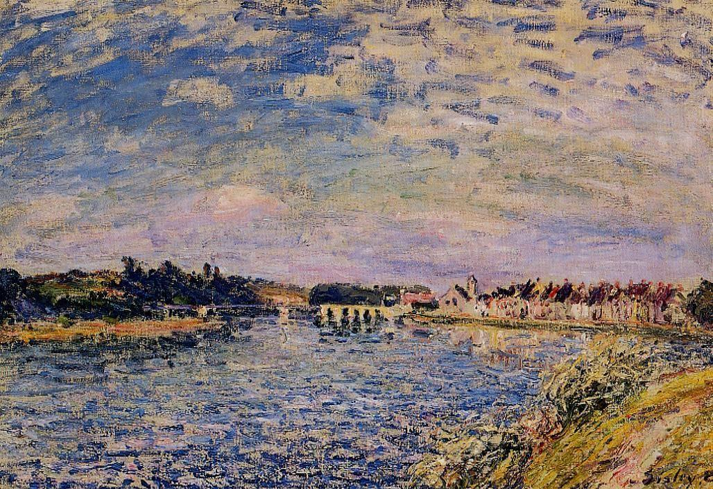 Saint Mammes Evening - Alfred Sisley