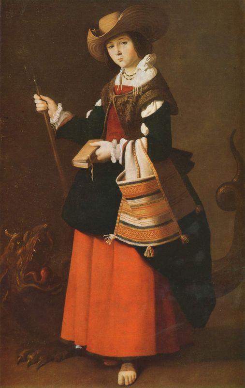 Saint Margaret, dressed as a shepherdess - Francisco de Zurbaran