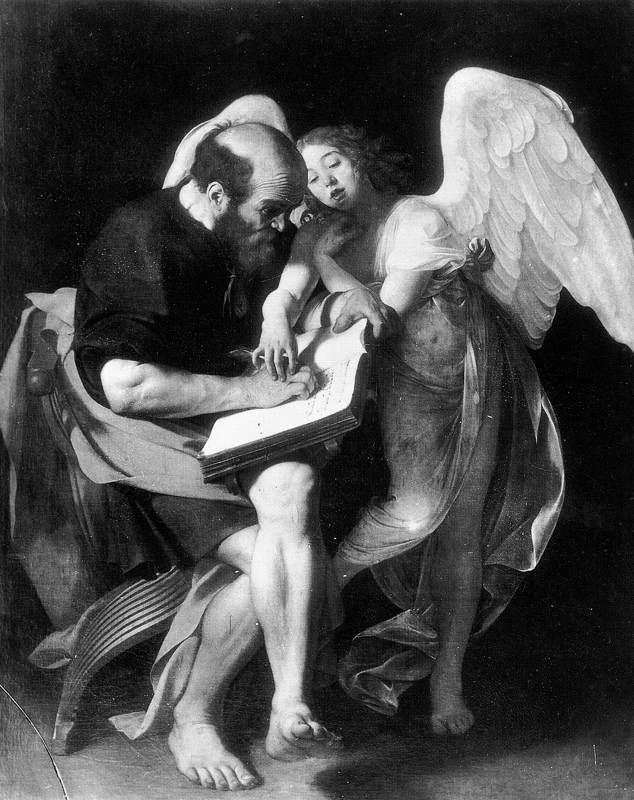 Saint Matthew and the Angel - Caravaggio