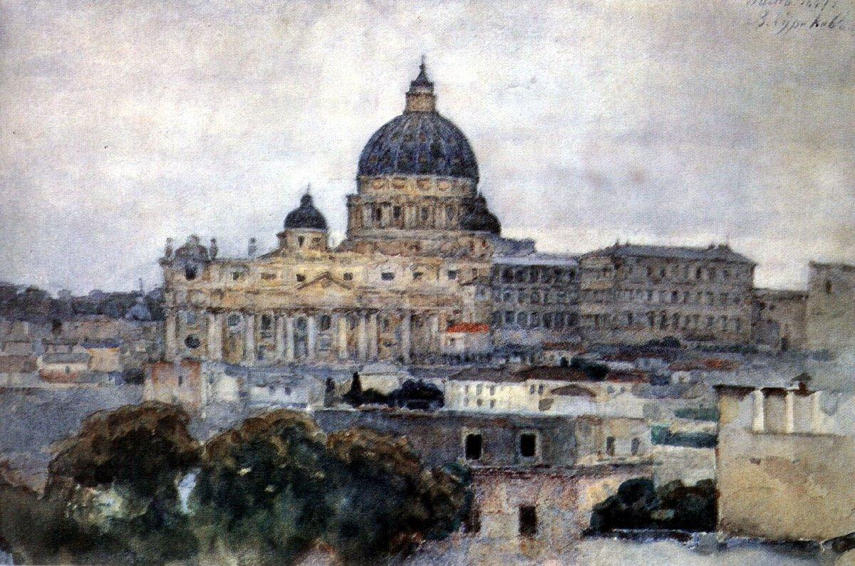 Saint Peter's Cathedral in Rome - Vasily Surikov