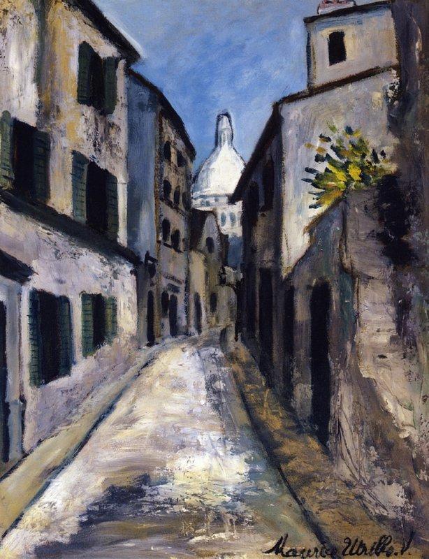 Saint-Rustique street - Maurice Utrillo
