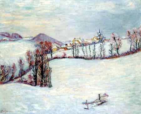 Saint-Sauves under the snow - Armand Guillaumin
