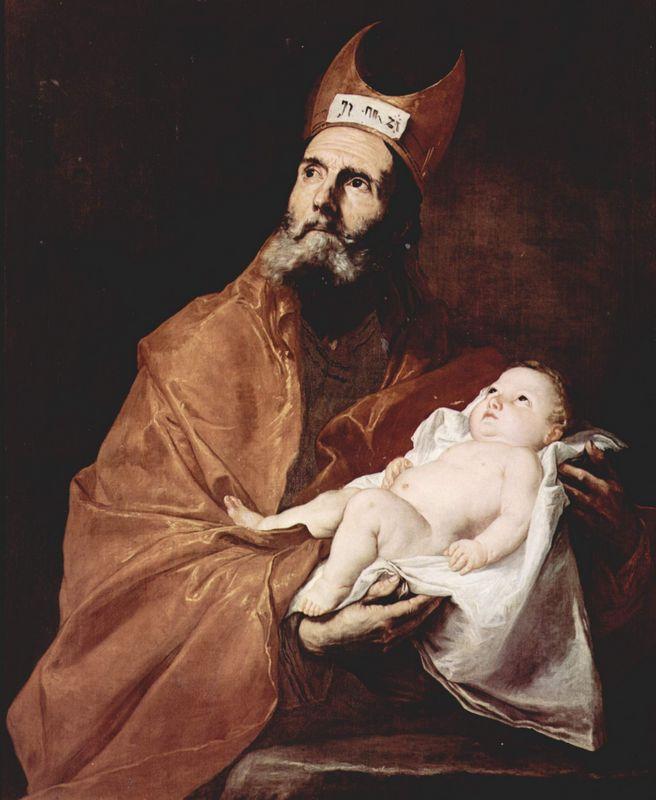 Saint Simeon with the Christ child - Jusepe de Ribera