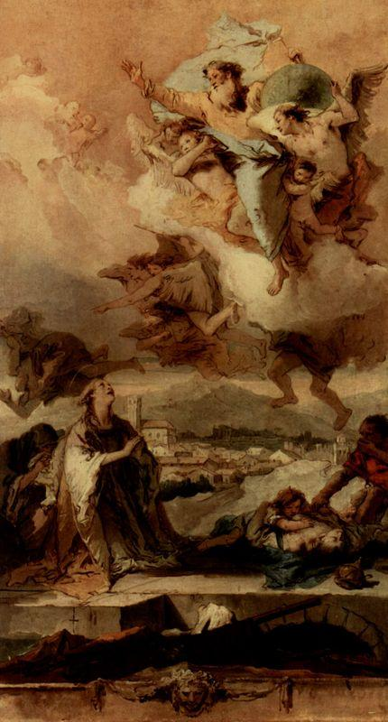 Saint Thecla Liberating the City of Este from the Plague - Giovanni Battista Tiepolo