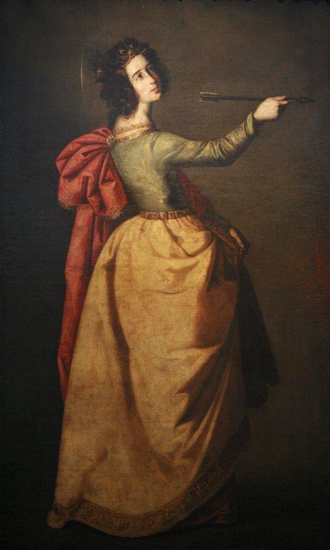 Saint Ursula - Francisco de Zurbaran
