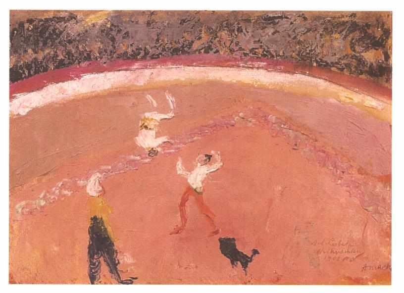 Salto mortale in circus - August Macke