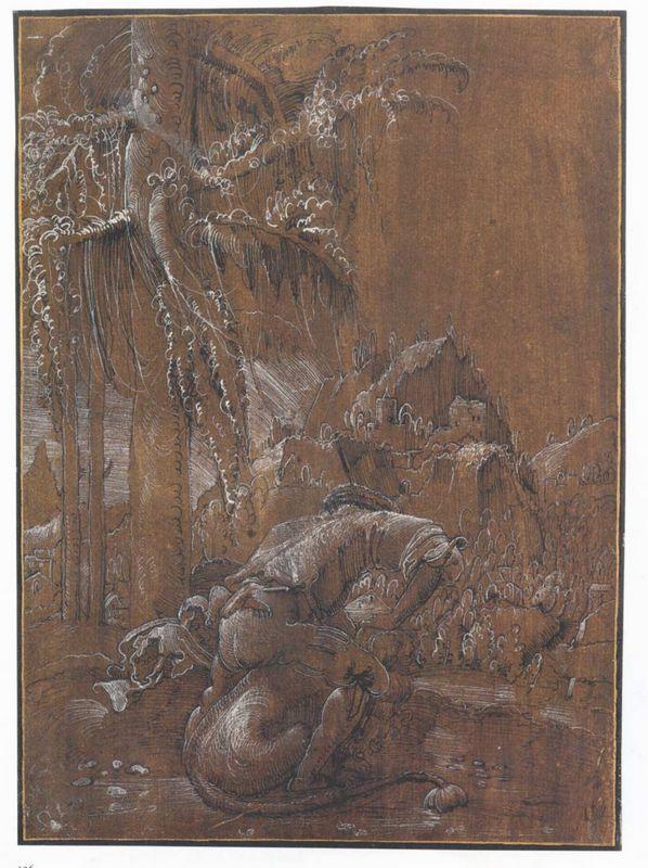 Samson and the Lion - Albrecht Altdorfer
