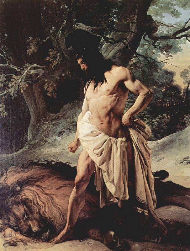 Samson Slays the Lion - Francesco Hayez