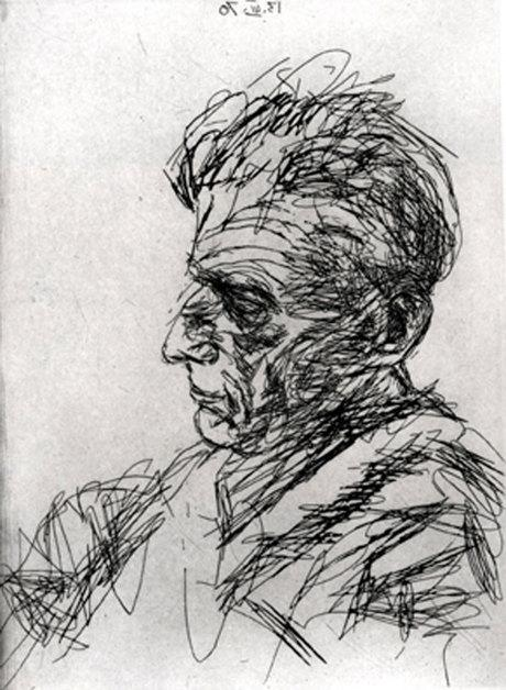 Samuel Beckett in Profile - Avigdor Arikha