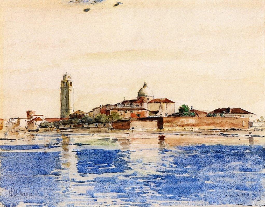 San Pietro, Venice - Childe Hassam