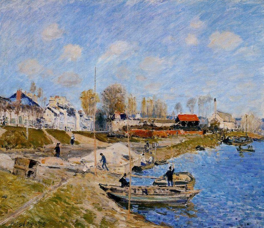Sand on the Quayside, Port Marly - Alfred Sisley