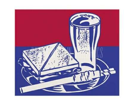 Sandwich and soda - Roy Lichtenstein