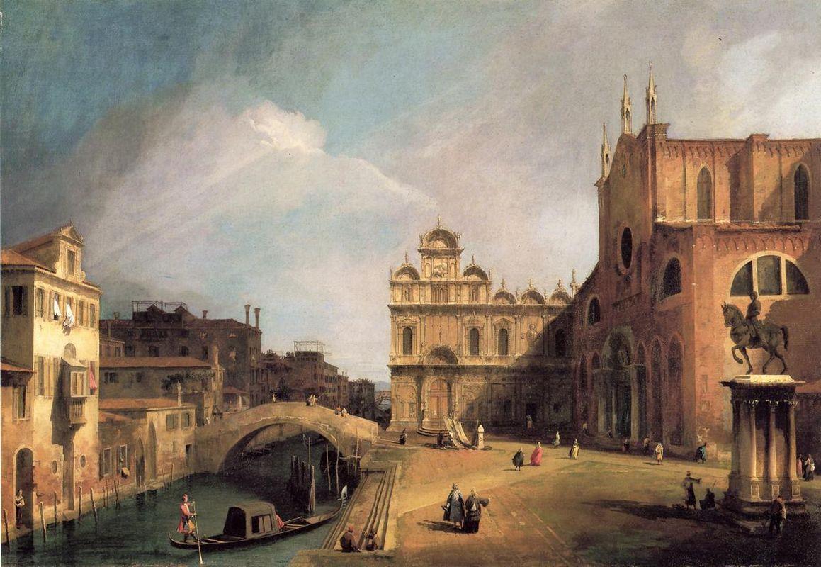 Santi Giovanni e Paolo and the Scuola di San Marco - Canaletto