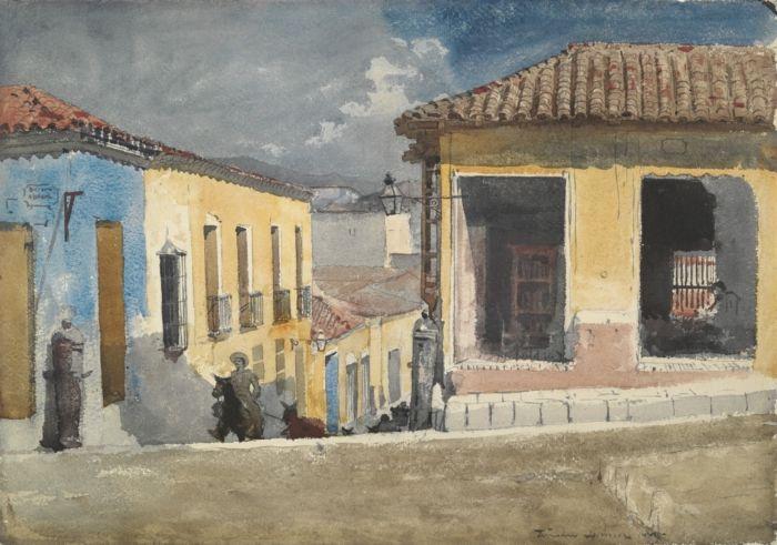 Santiago de Cuba, Street Scene - Winslow Homer