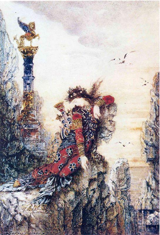 Sappho on the Rocks - Gustave Moreau